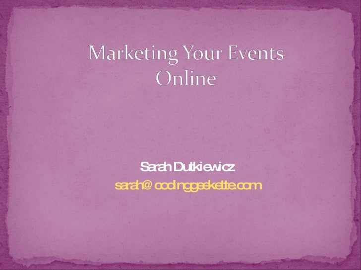 "Ignite Cleveland - ""Marketing Your Events Online"""