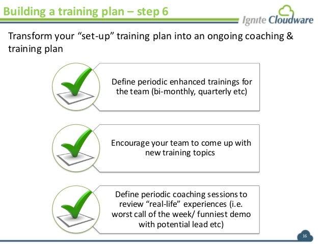 sales training plan 16 building a training plan