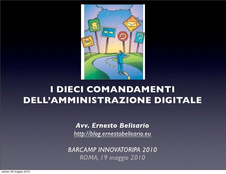 """I """"dieci comandamenti"""" della PA digitale"""