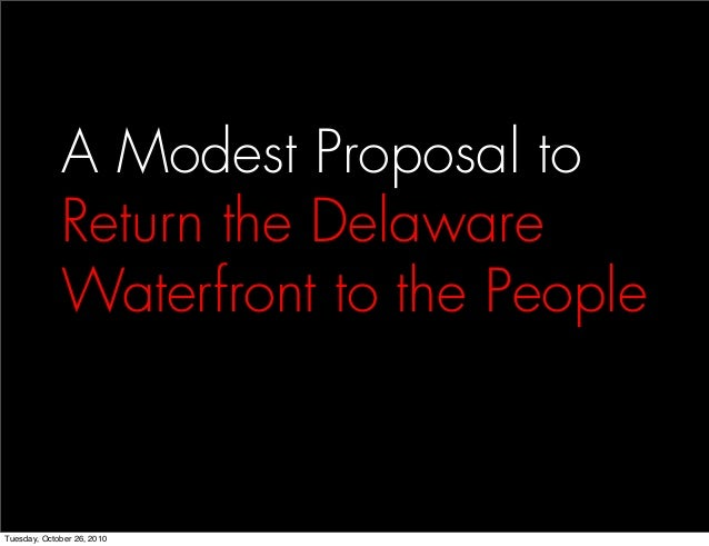 A Modest Proposal to Return the Delaware Waterfront to the People
