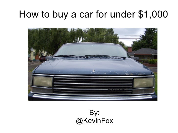 How to Buy a Car for $1,000 - IgnitePortland 3