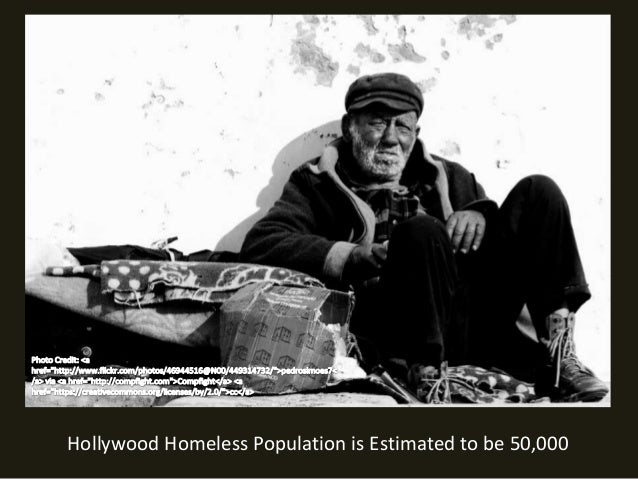 Hollywood Homeless Population is Estimated to be 50,000