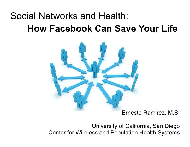 Social Networks and Health:    How Facebook Can Save Your Life                                         Ernesto Ramirez, M....