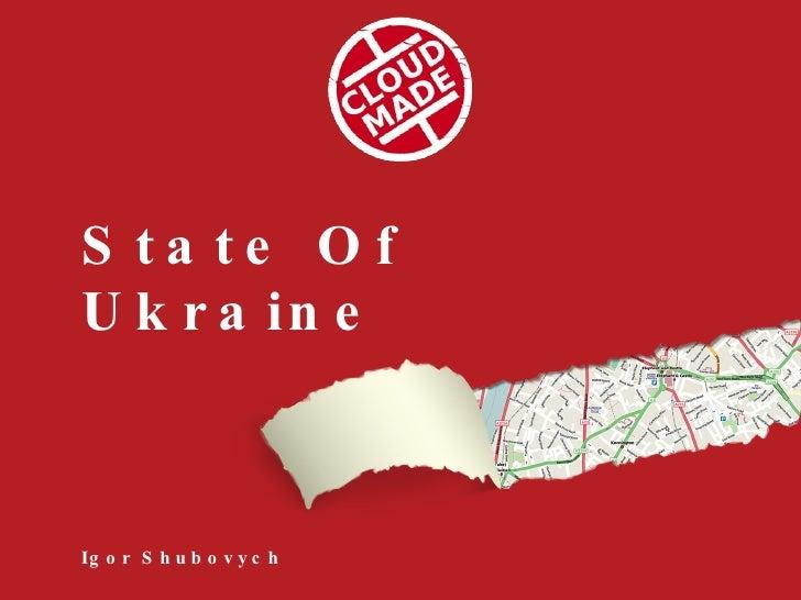Igor Shubovych   State Of Ukraine   Sotm09