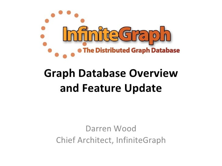 Graph Database Overview and Feature Update Darren Wood Chief Architect, InfiniteGraph