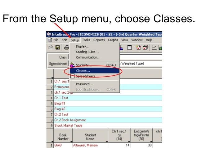 From the Setup menu, choose Classes.