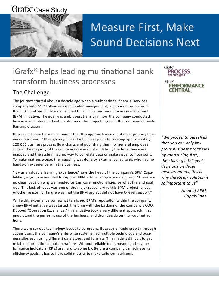 I Grafx Multinational Case Study