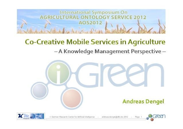 iGreen: Co-creative Mobile Services in Agriculture - A Knowledge Management Perspective