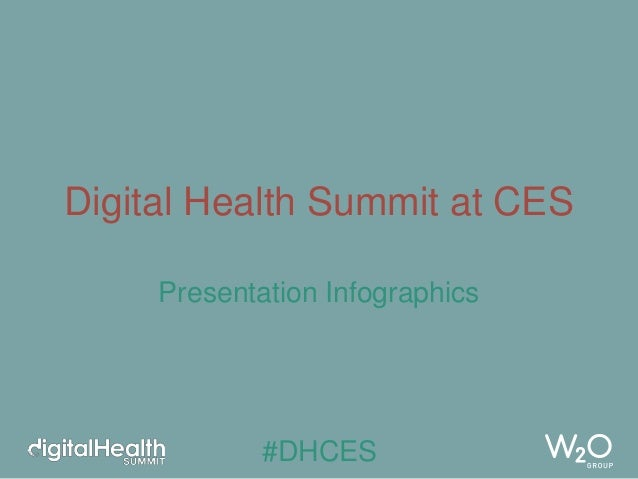 Digital Health Summit at CES Presentation Infographics  #DHCES
