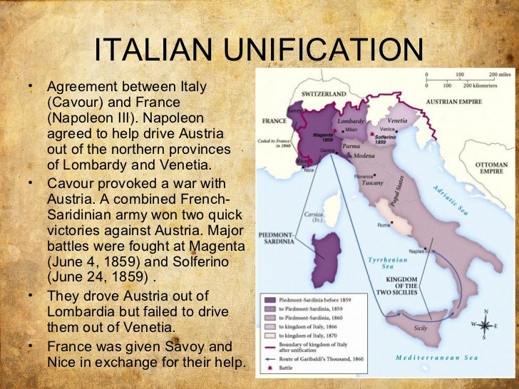 why did piedmont play a leading role in the unification of italy from 1848 71 Torlonia, witness to a century  role as leader in the achievement of italian unification 4 in 1848,  the risorgimento and the unification of italy,.