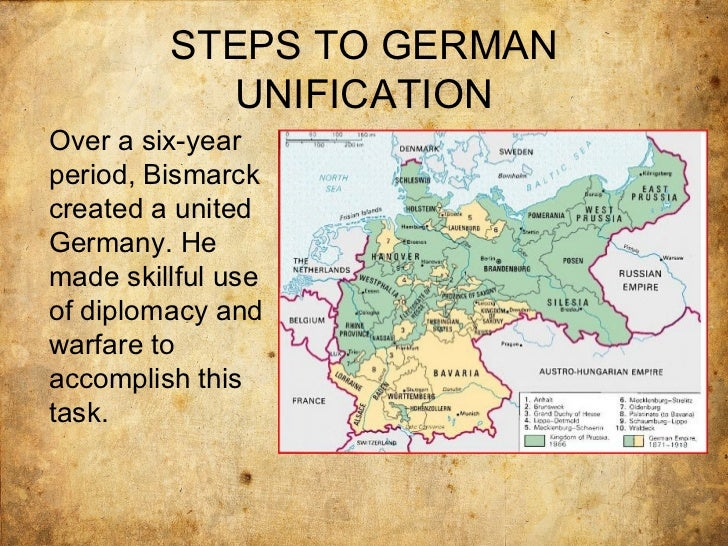 the process of german unification The fall of the wall and german reunification in addition it gave up one of the most important instruments and symbols in the unification process, the.