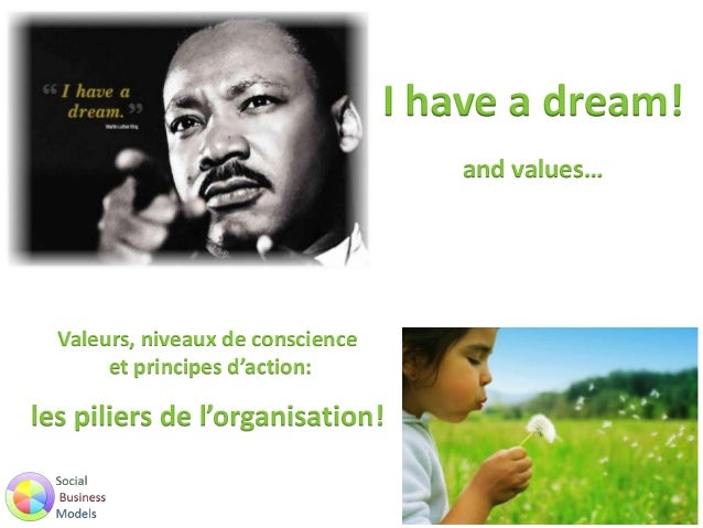 Valeurs, niveaux de conscience et principes d'action: les piliers de l'organisation! I have a dream! and values…