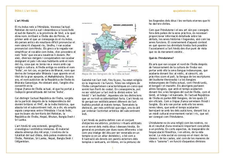 ÍNDIA I: L'art hindú                                                                                                      ...