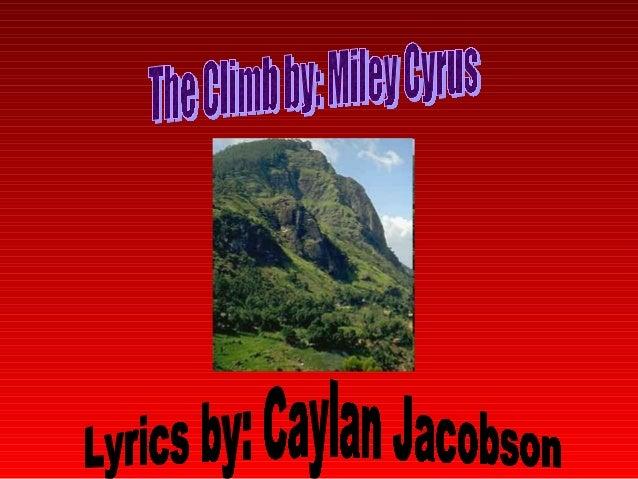 The Climb: Lyrics