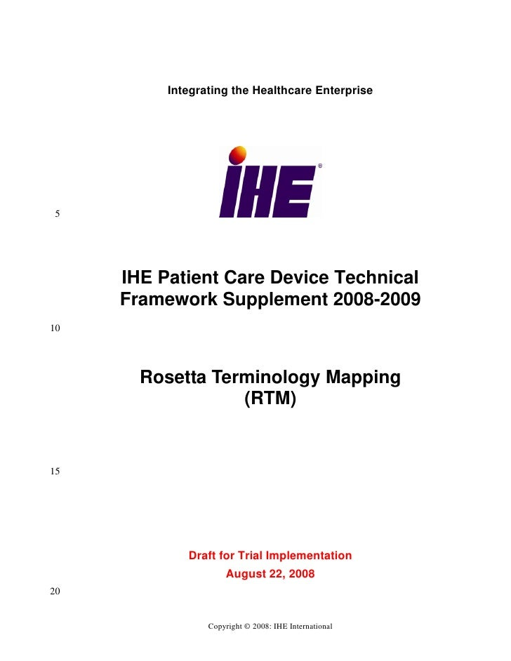 Ihe pcd tf_supplement_rosetta_terminology_mapping_rtm_ti_2008-08-22