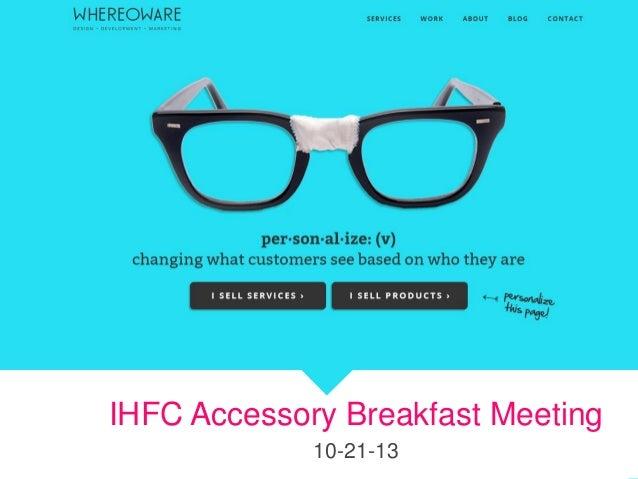 Ihfc accessories breakfast oct 21