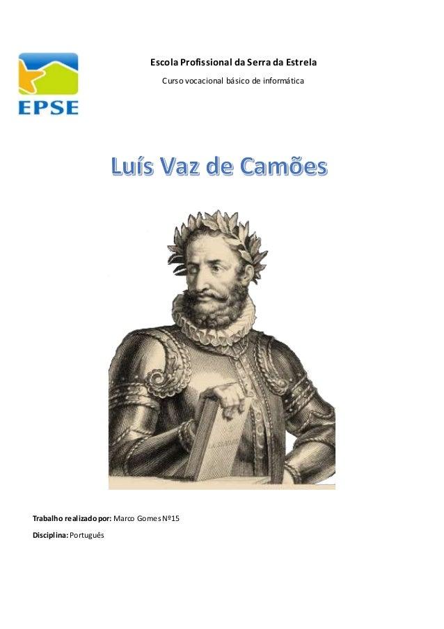 Luis de Camoes entrevista