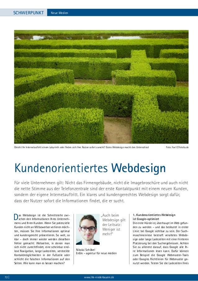 IHK Zeitschrift  12/13 - Kundenorientiertes Webdesign