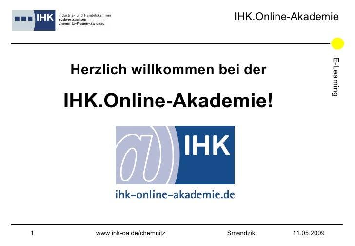 Herzlich willkommen bei der IHK.Online-Akademie!