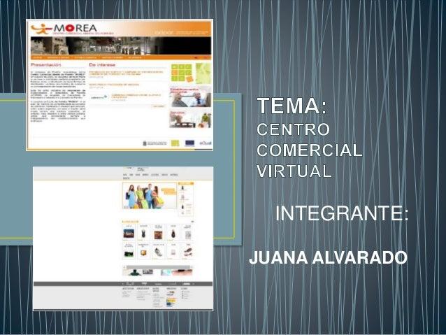 INTEGRANTE:  JUANA ALVARADO