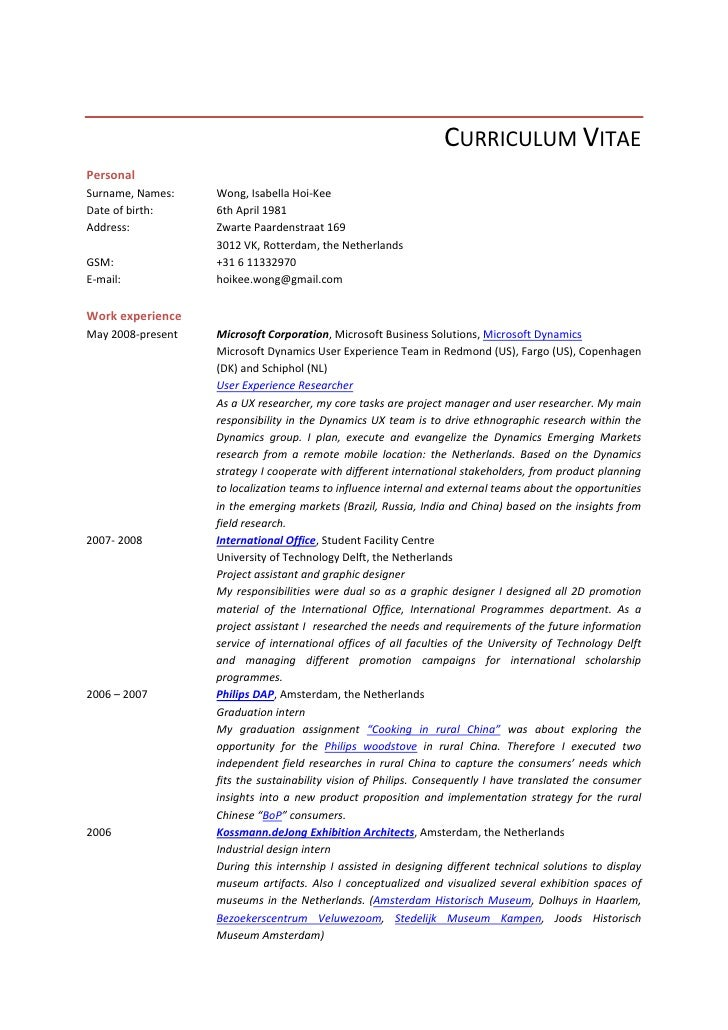 resume user researcher