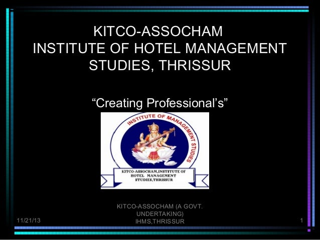 Ihms, tcr HOTEL MGMT INSTITUTE