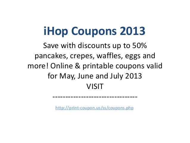 Ihop printable coupons june 2018