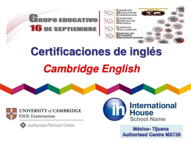 Certificaciones de inglés Cambridge English