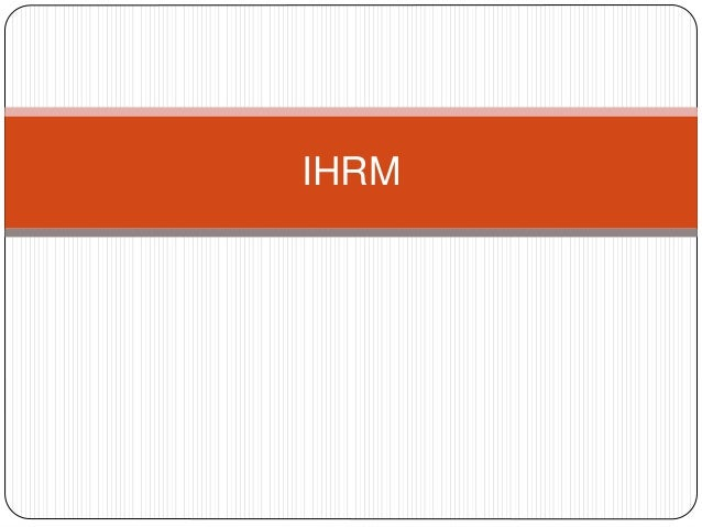 thesis international human resource management Choose a dissertation topic human resources management international human resource management (prof maral muratbekova-touron.