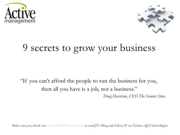 IHRSA 2010 9 Secrets To Business Growth
