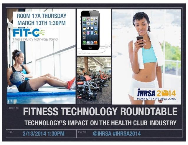 IHRSA 2014 Technology Roundtable