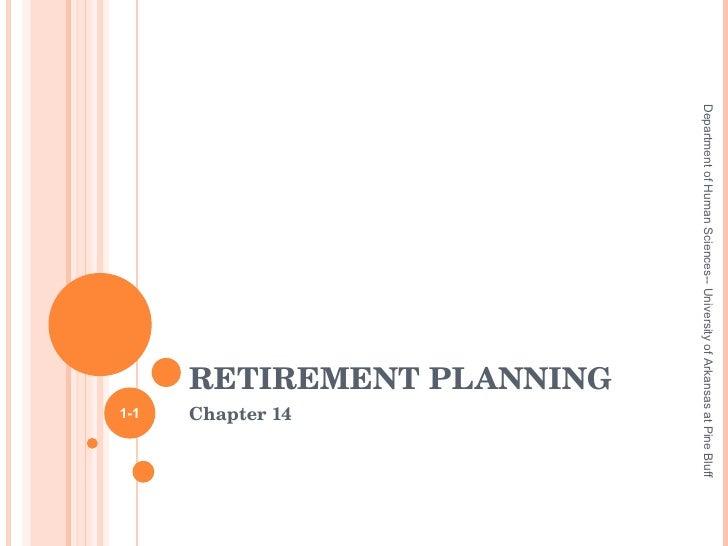HUSC 3366 Chapter 14 Part I Retirement Planning