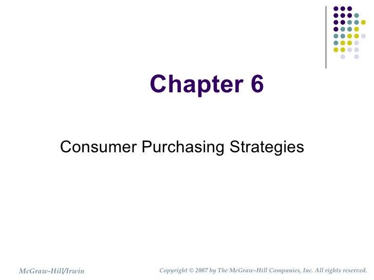 HUSC 3366 Chapter 6 Consumer Purchasing Strategies