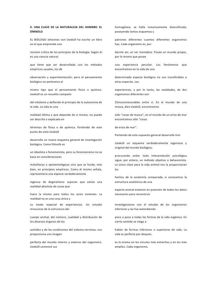 II. UNA CLAVE DE LA NATURALEZA DEL HOMBRE: EL                 homogénea; se halla inmensamente diversificada,SÍMBOLO      ...