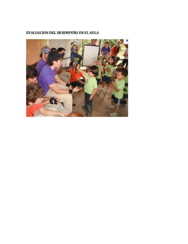 II.3 La evaluación en la escuela