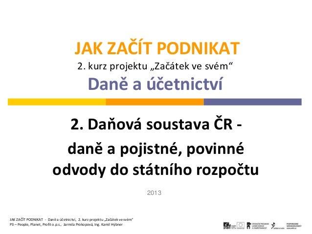 Daňová soustava ČR 2013