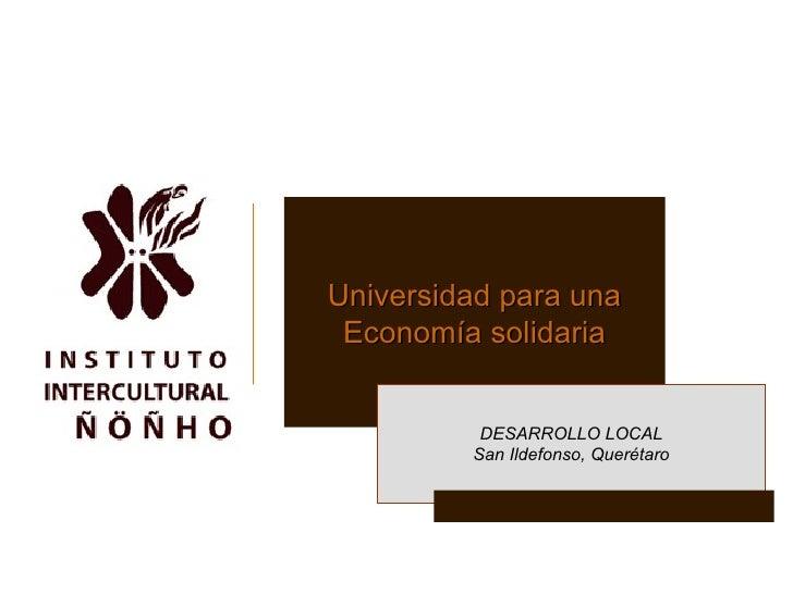 INSTITUTO INTERCULTURAL NONHO EDUCACION INTERCULTURAL MEXICO