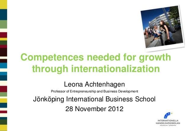 Ii e - achtenhagen competences for internationalisation