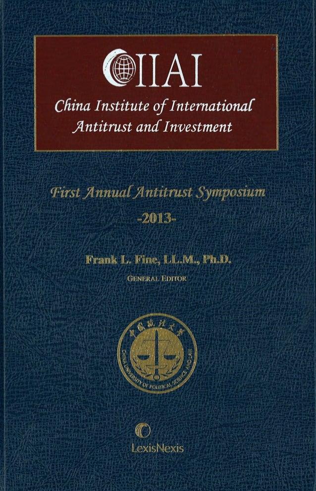 China Institute of International Antitrust and Investment.