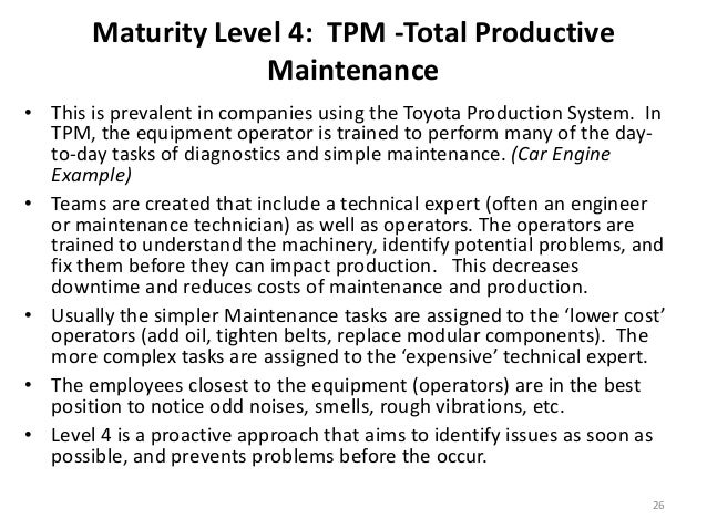 research papers on total productive maintenance The impact of total productive maintenance practices on manufacturing total productive maintenance paper, we focus on the short-term maintenance efforts.