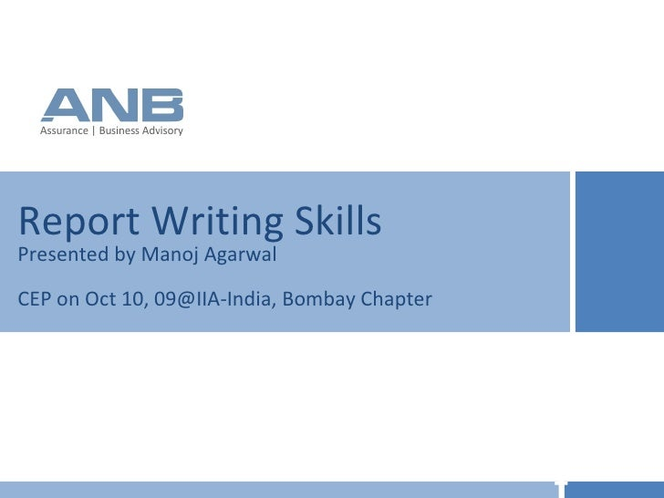 Iia audit report writing
