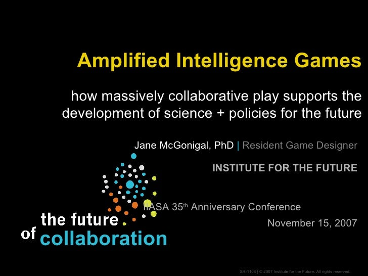 IIASA 35th Anniversary - Amplified Intelligence Games