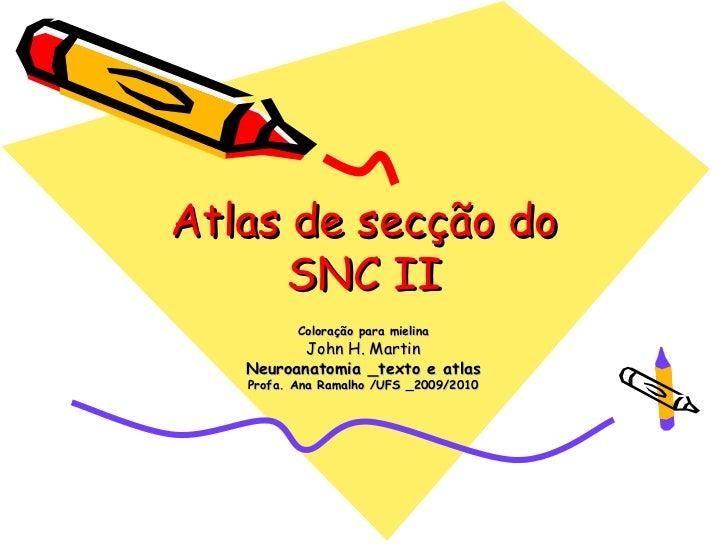 Atlas de secção do      SNC II          Coloração para mielina          John H. Martin   Neuroanatomia _texto e atlas   Pr...