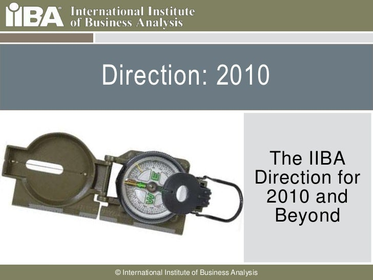 Direction: 2010     Cover this area with a     picture related to your     presentation. It can                          ...