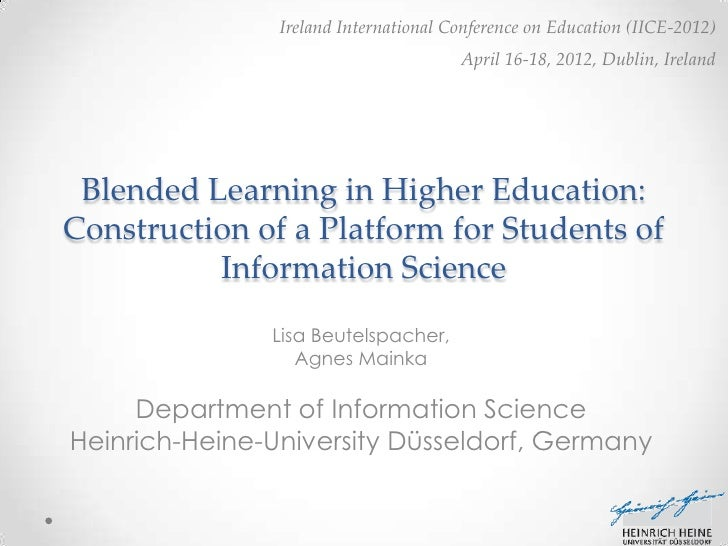 Blended Learning in Higher Education: Construction of a Platform for Students of Information Science