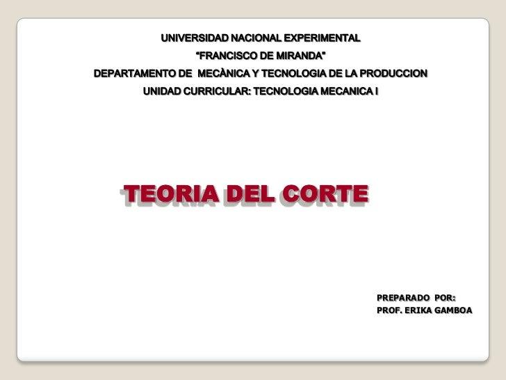 """UNIVERSIDAD NACIONAL EXPERIMENTAL<br />""""FRANCISCO DE MIRANDA""""<br />DEPARTAMENTO DE  MECÀNICA Y TECNOLOGIA DE LA PRODUCCION..."""
