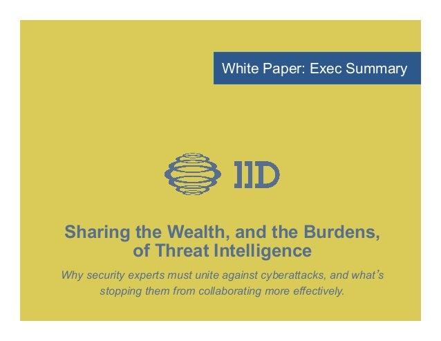 Iid infoshare exec_summary final