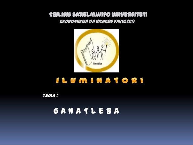 Tbilisis saxelmwifo universiteti ekonomikisada biznesis fakulteti g a n a T l e b a Tema :
