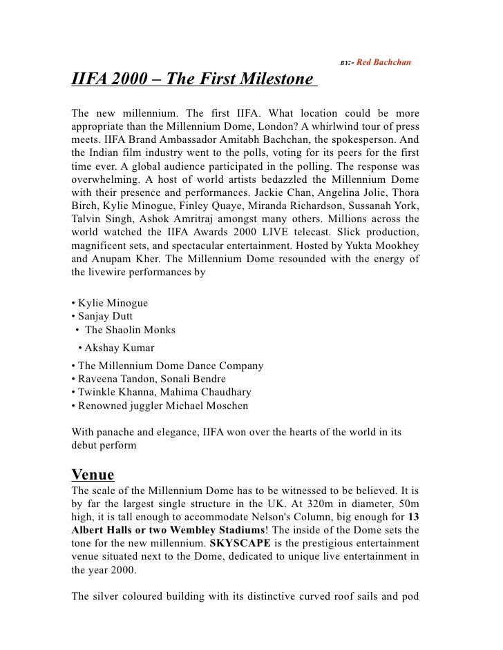IIFA AWARDS LIST FROM 2000