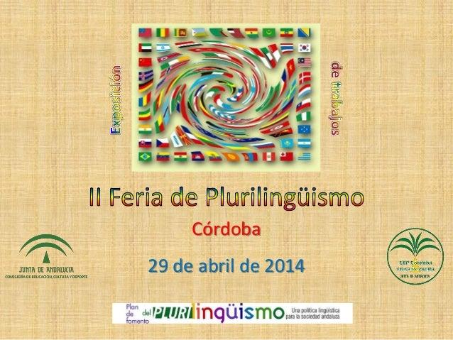 Córdoba 29 de abril de 2014
